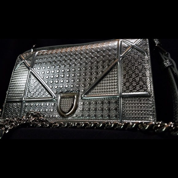 Dior Handbags - Christian Dior - DIORAMA BAG IN METALLIC CALFSKIN ece2632039d65